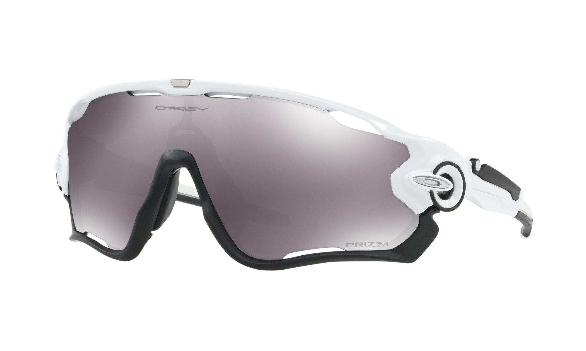 Oakley  Jawbreaker Polished White w/ Prizm Black Lens - Cycles Galleria Melbourne