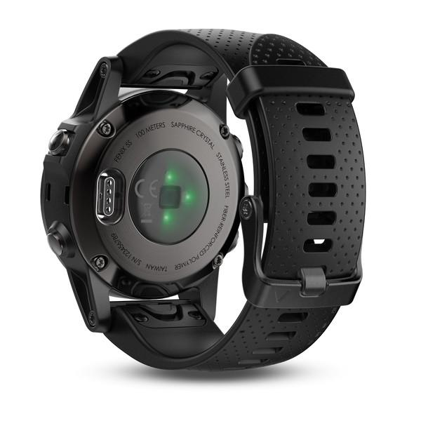 Garmin Black fenix 5S Sapphire Watch with Black Band - Cycles Galleria Melbourne