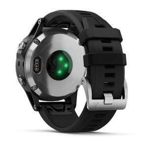 Garmin fenix 5 Plus Silver with Black Band Watch