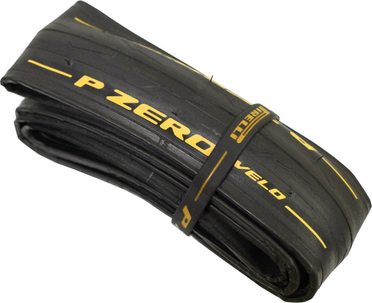 Pirelli P Zero Velo (700x25C) Black Tyre Folding Ltd Yellow