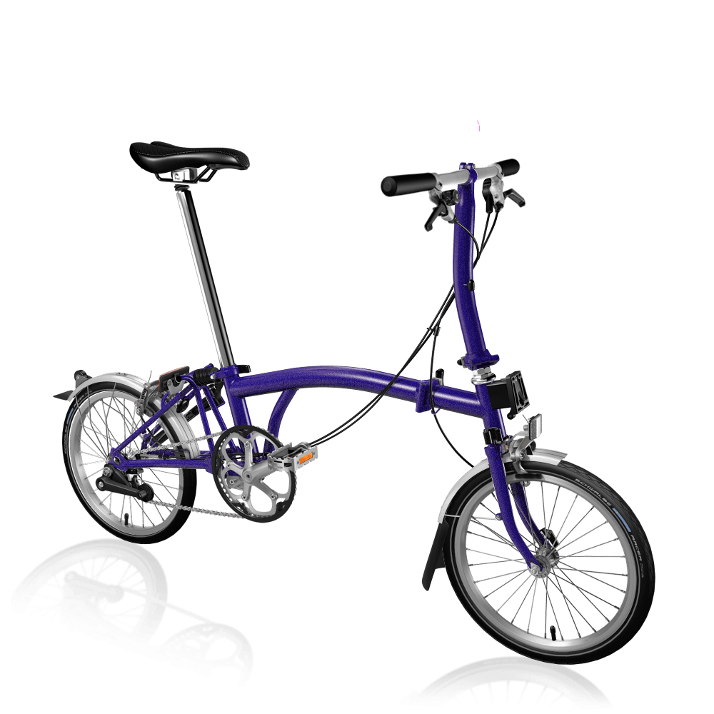Brompton S2L Metallic Purple Folding Bike