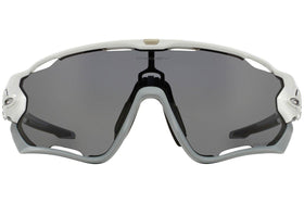 Oakley  Jawbreaker Polished White w/Grey Polarized  Lens - Cycles Galleria Melbourne