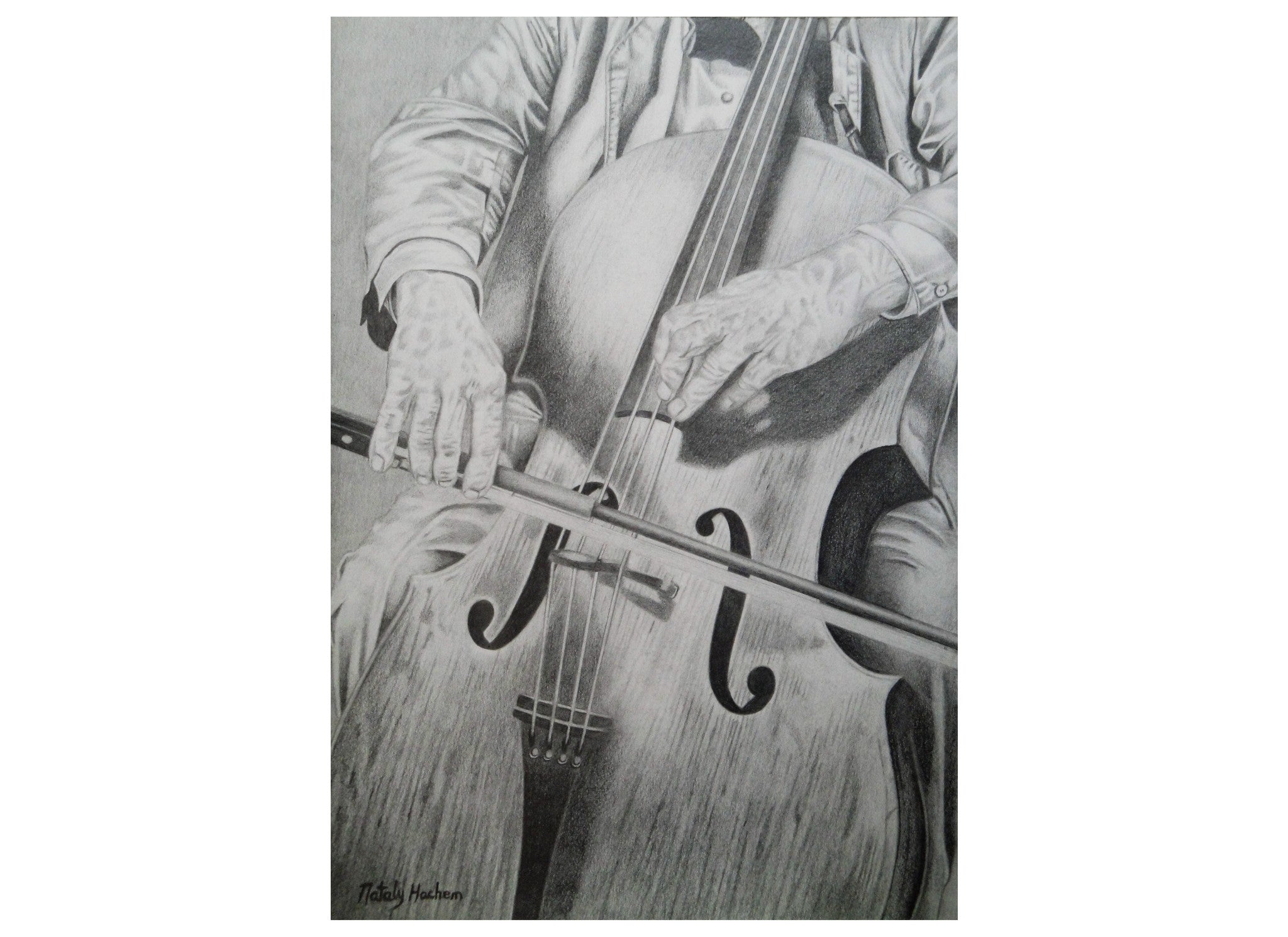 Violin Pencil Drawing