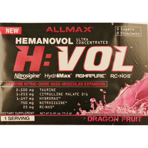 AllMax HemanoVol Sample
