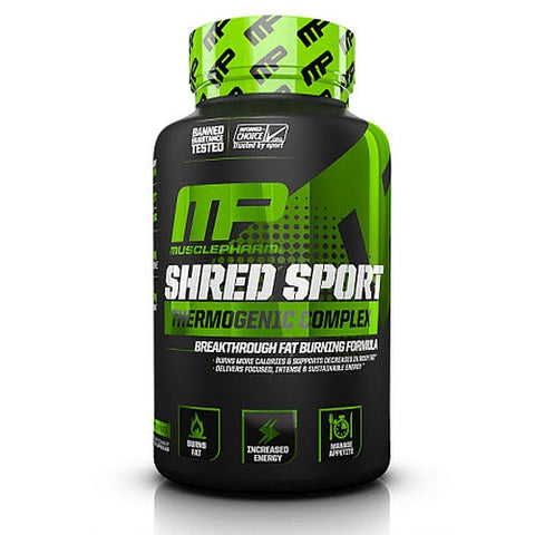 MusclePharm - Shred Sport, Thermogenic Complex, 60 Capsules