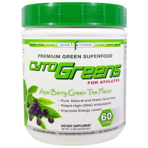 NovaForme CytoGreens Acai Berry Green Tea 535g
