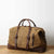 Company Christmas Gift Handmade Waterproof Waxed Canvas Luggage Weekender Bag Travel Bag Duffel bag W12031