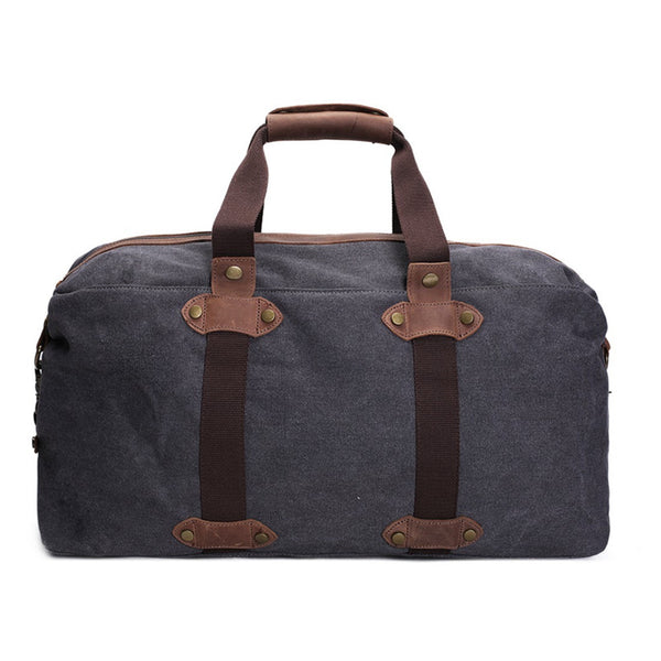 Canvas Leather Duffle Bag Overnight Bag Weekender Bag AF 15