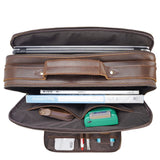 Handmade Full Grain Leather Briefcase, 15.6'' Laptop Bag, Business Handbag CN1488
