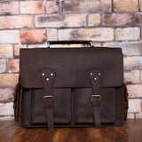 Handmade Distressed Leather Messenger Bag Shoulder Bag  Man Handbag  7145 - Unihandmade