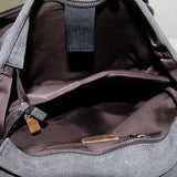 Canvas Backpack Rucksack School Casual Backpack AF02 - Unihandmade