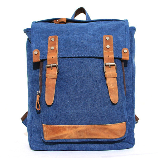 Canvas Backpack Rucksack School Casual Backpack AF02 - ArtofLeather