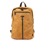 Waxed canvas backpack, Backpack for man, Canvas Bag with Leather Trim, Laptop Briefcase 5385