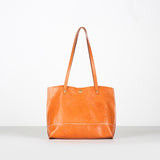 Handmade Full Grain Leather Tote Bag Lady Shopping Bag Designer Shoulder Bag ZD7351 - Unihandmade