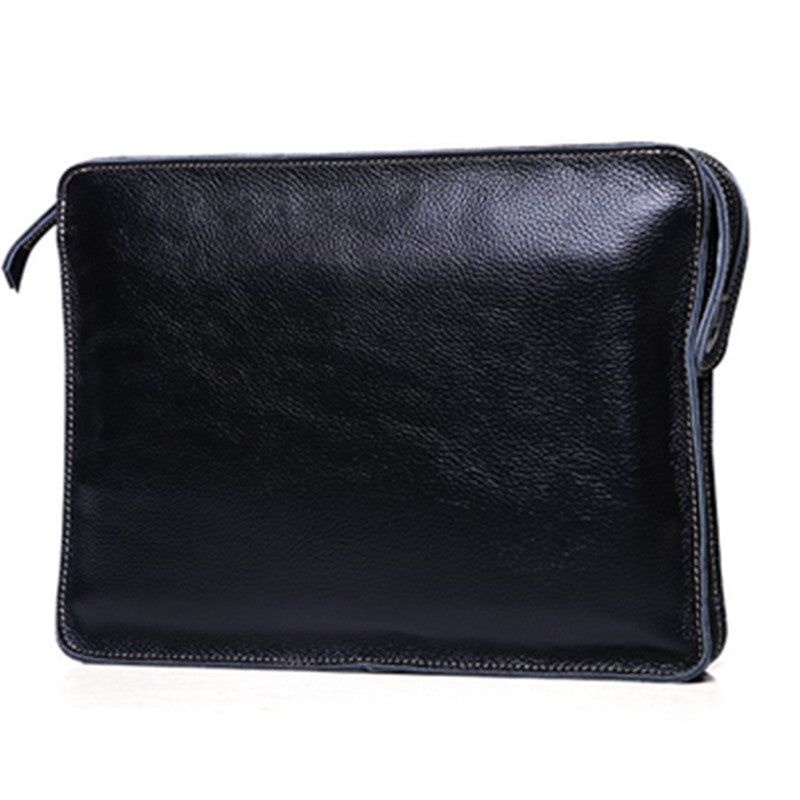 Handmade Top Grain Leather Clutch Bag Ipad Mini Bag QY1601 - Unihandmade