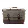 Handmade Canvas Leather Briefcase Messenger Bag Shoulder Bag Laptop Bag A43 - Unihandmade