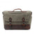 Handmade Canvas Leather Briefcase Messenger Bag Shoulder Bag Laptop Bag A43