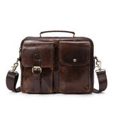 Handcrafted Top Grain Leather Briefcase, Leather Messenger Bag, Shoulder Bags for Men MLT8114 - Unihandmade