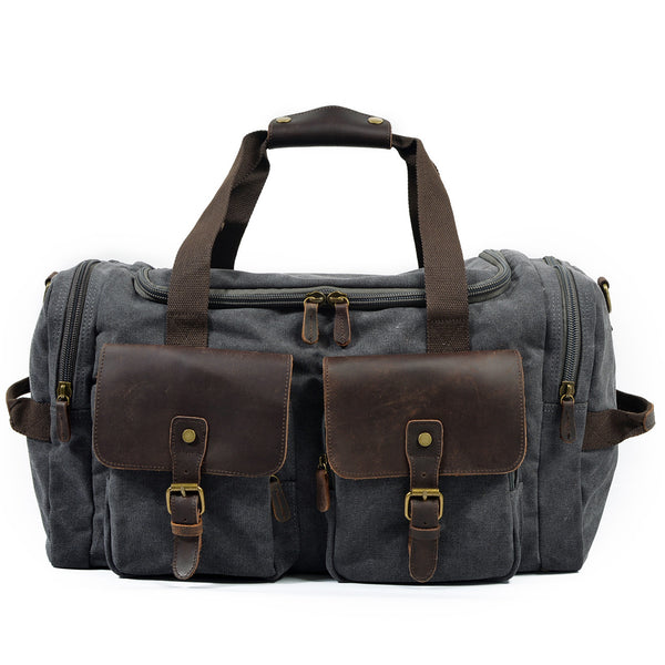 Canvas Leather Travel Bag Duffle Bag Weekender Bag AF14