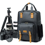 Camera Backpack Canvas Backpack with Camera Insert 272 - Unihandmade