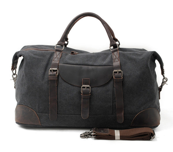 Waxed Canvas Travel Duffle Bag Holdall Luggage Overnight Bag AF33