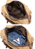 Handmade Waterproof Waxed Canvas Luggage Weekender Bag Travel Bag Duffel bag W12031