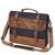 Handmade Waxed Canvas Handbag Waterproof Briefcase Messenger Bag Men Leather Shoulder Bag School Laptop Bag