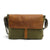 Canvas Genuine Leather Messenger Shoulder Bag Laptop Bag GN004