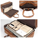 Handmade Distressed Full Grain Leather Men  Briefcase Laptop Bag Handbag NZ01 - Unihandmade