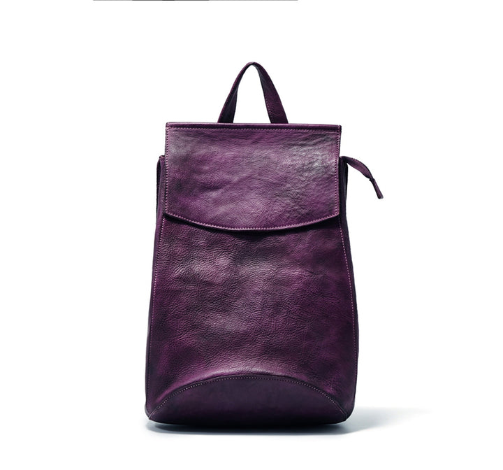 Handmade Full Grain Genuine Leather Backpack School Backpack Women Backpack Satchels F86