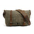 Handmade Canvas Leather Briefcase Messenger Bag Handbag Shoulder Bag MC16930ND