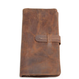 Handmade Distressed Leather Wallet,Crazy Horse Leather Handbag MC61001 - Unihandmade