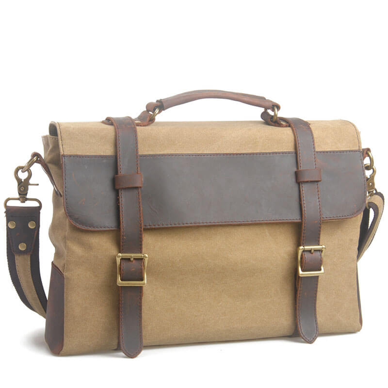 Handmade Canvas Bag Men's Briefcase Messenger Bag Handbag Shoulder Bag Laptop Bag 6870 - Unihandmade