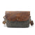 Handmade Canvas Leather Briefcase Messenger Bag Shoulder Bag Laptop Bag MC82069