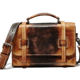 Handmade Full Grain Genuine Leather Messenger Men Leather Briefcase  F88 - Unihandmade