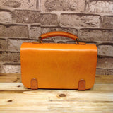 Hand Stitched Full Grain Vegetable Tanned Leather Satchel Bag Messenger Shoulder Bag - Unihandmade