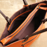 Handmade Women Tote Handbags Full Grain Leather Shopping Bag Tote Bag BR6053