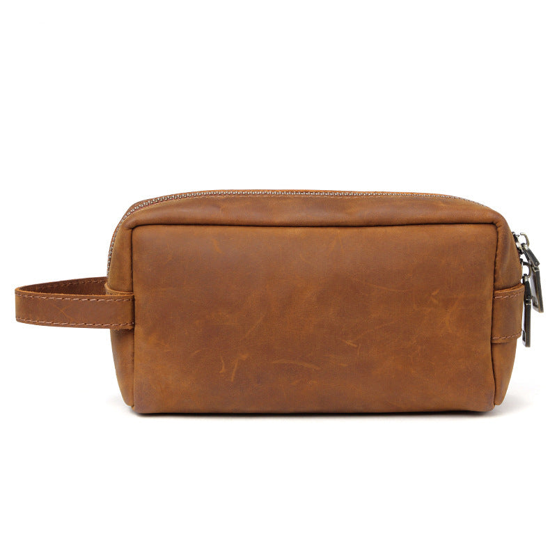 Handmade Leather Dopp Kit Leather Cosmetic Bag Leather Toiletry Bag QY6366 22da99d9c7210