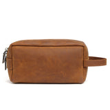 Handmade Leather Dopp Kit Leather Cosmetic Bag Leather Toiletry Bag QY6366 - Unihandmade