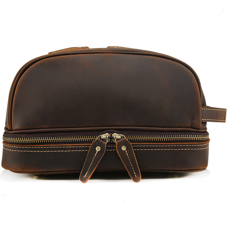 Handmade Leather Dopp Kit Large Leather Cosmetic Bag Travel Toiletry Bag  CN8814 d7f42637a8263