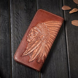 Handmade Full Grain Leather Wallet Long Men Wallet Card Wallet TZ1102 - Unihandmade