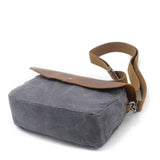 Handmade Canvas Leather Briefcase Messenger Bag Shoulder Bag Laptop Bag MC82069 - Unihandmade