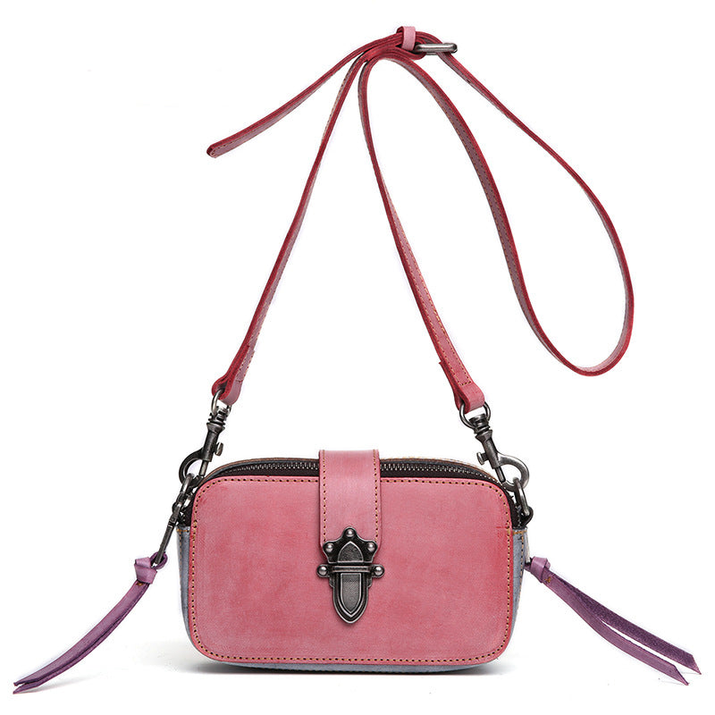 Handmade Waxed Leather Women Satchel Leather Cross Body Bag Shoulder Bag  QY8679 - Unihandmade