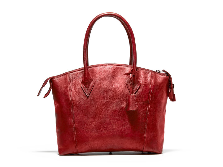 Handmade Full Grain Genuine Leather Tote Bag Women Shopping Bag 9038