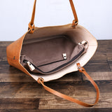 Handmade Leather Designer Tote Handbag Shoulder Bag C105 - Unihandmade