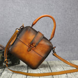 Handmade Full Grain Leather Handbag Purses Women Designer Handbag 9608 - Unihandmade