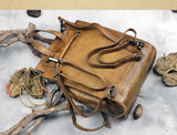 Women Leather Backpack Travel Backpack School Backpack Leather Satchels WF71 - Unihandmade