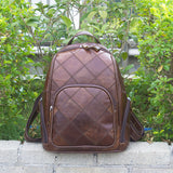 Handmade Top Grain Leather Backpack for Women Leather Textured Travel Backpacks MLT1037 - Unihandmade