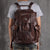 Full Grain Leather Backpack Men Travel Backpack Cool Backpacks