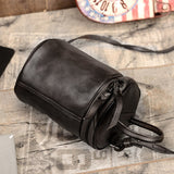 Handmade Full Grain Leather Bucket  Bag Women Cross Body Bag TZ6132 - Unihandmade